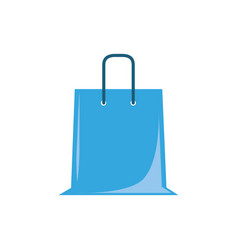 Shopping bag plastic flat icon blue vector