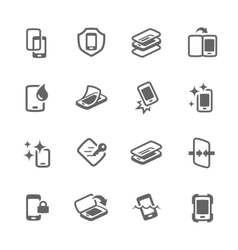 Simple Smart Cover Icons vector image