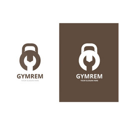 sport and repair logo combination gym and vector image