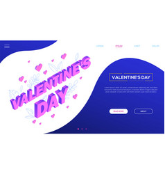 St valentines day - colorful isometric web vector
