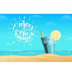 Summer lemonade in the glass vector