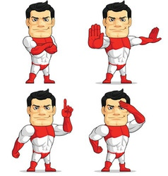 Superhero customizable mascot 4 vector