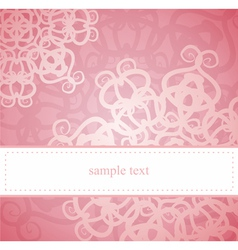 Sweet pink card or invitation for birthday party vector