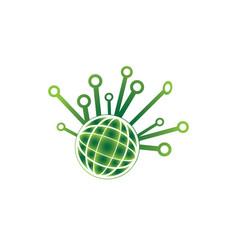 technology globe icon for logo design high tech vector image