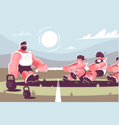 tug of war vector image