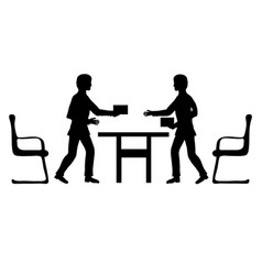 Two businessmen make a deal vector