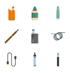 Vapor device icon set flat style vector