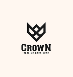 vintage crown logo royal king queen abstract logo vector image