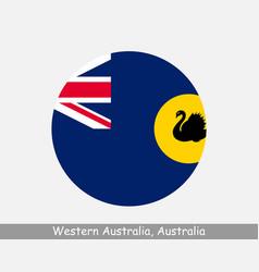 Western australia australia round circle flag vector