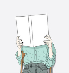 women sitting reading their own books at home vector image