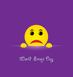 World emoji day greeting card design vector
