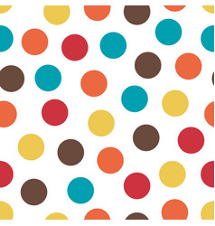 abstract seamless pattern with randomly colored vector image
