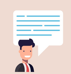 businessman or manager close-up with a speech vector image