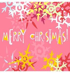 Christmas greeting card postcard editable template vector image