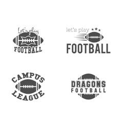 College american football team championship vector image vector image