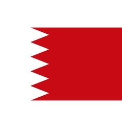 Flag of Bahrain in correct proportions and colors vector image
