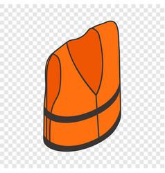life jacket isometric icon vector image