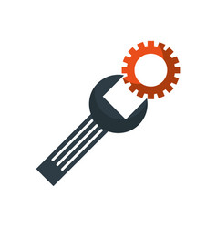 support concept repair spanner with screw vector image