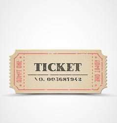 vintage ticket vector image vector image