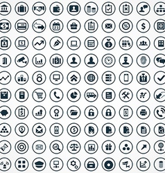 100 bank icons vector image