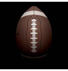 American Football on Black Background vector image vector image