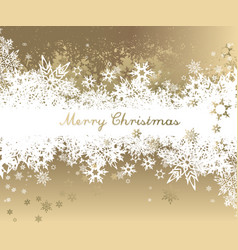 christmas background with golden - white vector image vector image