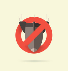 stop nuclear weapons vector image