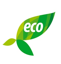 Abstract eco logo with green leaves vector image vector image