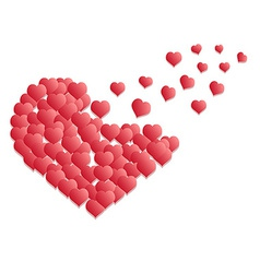 heart flying vector image