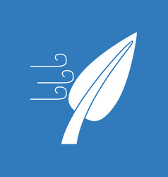 Icon leaf and wind vector