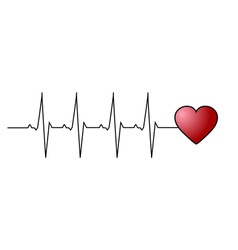 Love heart beat vector