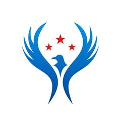 bird fly american star logo vector image vector image