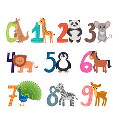 learn to count funny cartoon childish with cute vector image