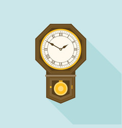 octagon shaped wall clock vector image