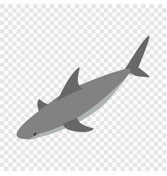 shark isometric icon vector image vector image