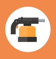 torch icon working hand tool equipment concept vector image vector image