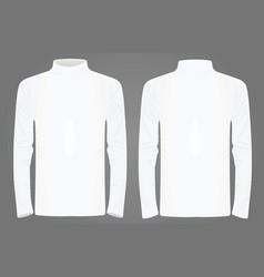 white high neck long sleeve t shirt vector image