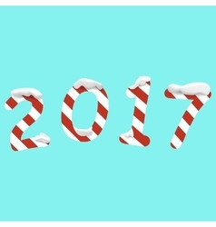 2017 Happy New Year background with numbers vector image