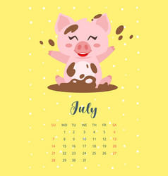 2019 year calendar page vector image