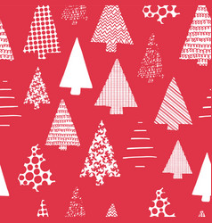 abstract christmas trees seamless pattern vector image