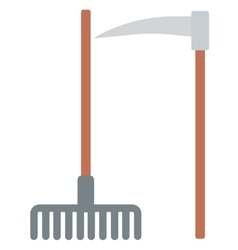 Agricultural rake and scythe vector