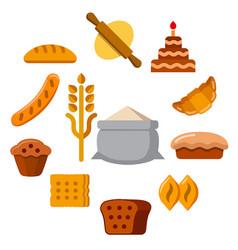 Bakery concept icon vector