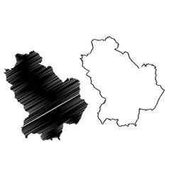 basilicata map vector image