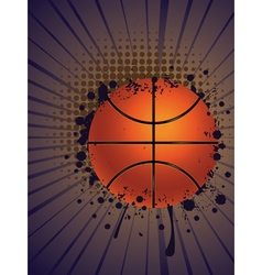 Basketball Ball on Rays Background vector