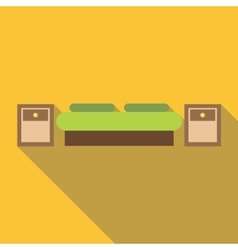 Bed icon flat style vector image