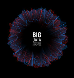 Big data visualization vector