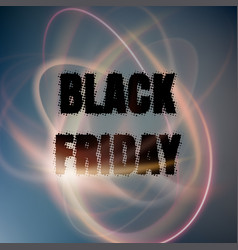 black friday poster with abstract lights eps 10 vector image