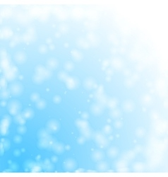 Bokeh snowing vector image