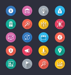 business simple color icons vector image