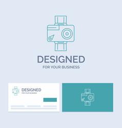 camera action digital video photo business logo vector image